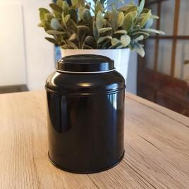 Boîte thé métal noir