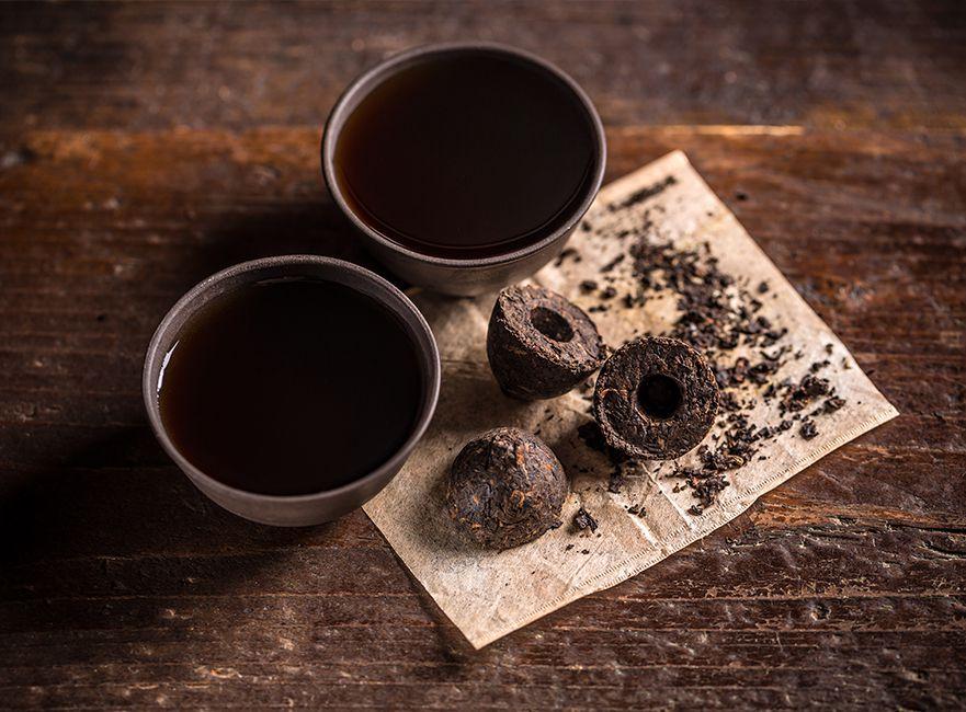 thé sombre puerh